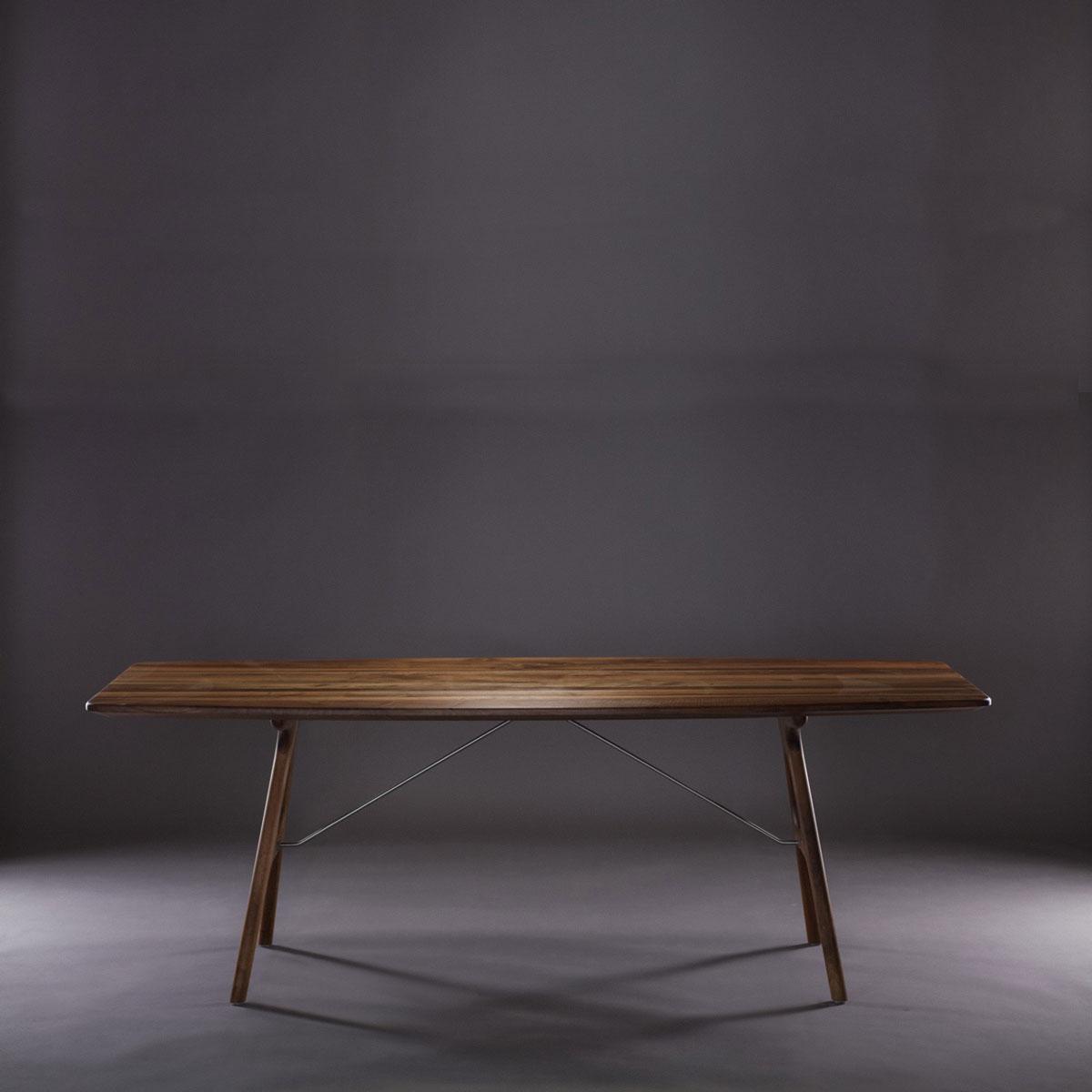 Mesa Tesa en madera maciza con posibilidad de extensión de 55 cm, diseño moderno y exclusivo para Artisan de Bosnia