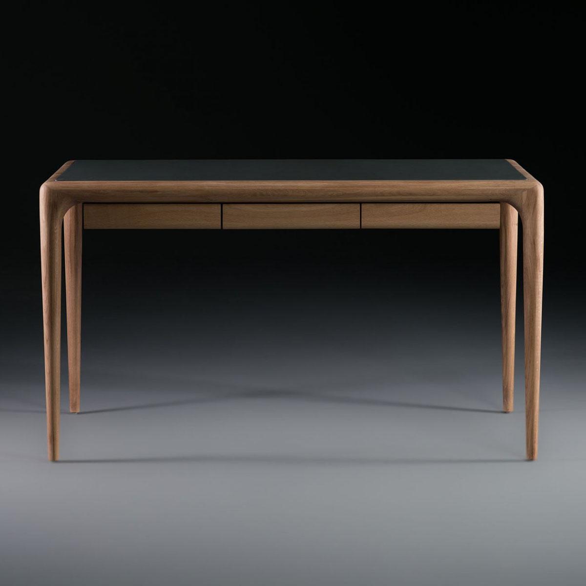 Escritorio Latus en madera y cuero, diseño moderno y elegante en Europa
