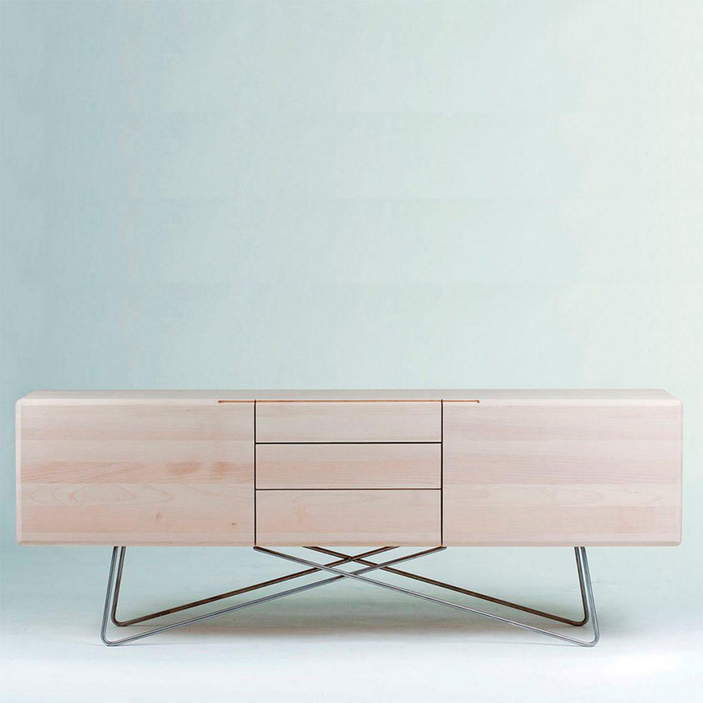 Aparador Linea, en madera de diseño vanguardista y producción artesanal para Artisan