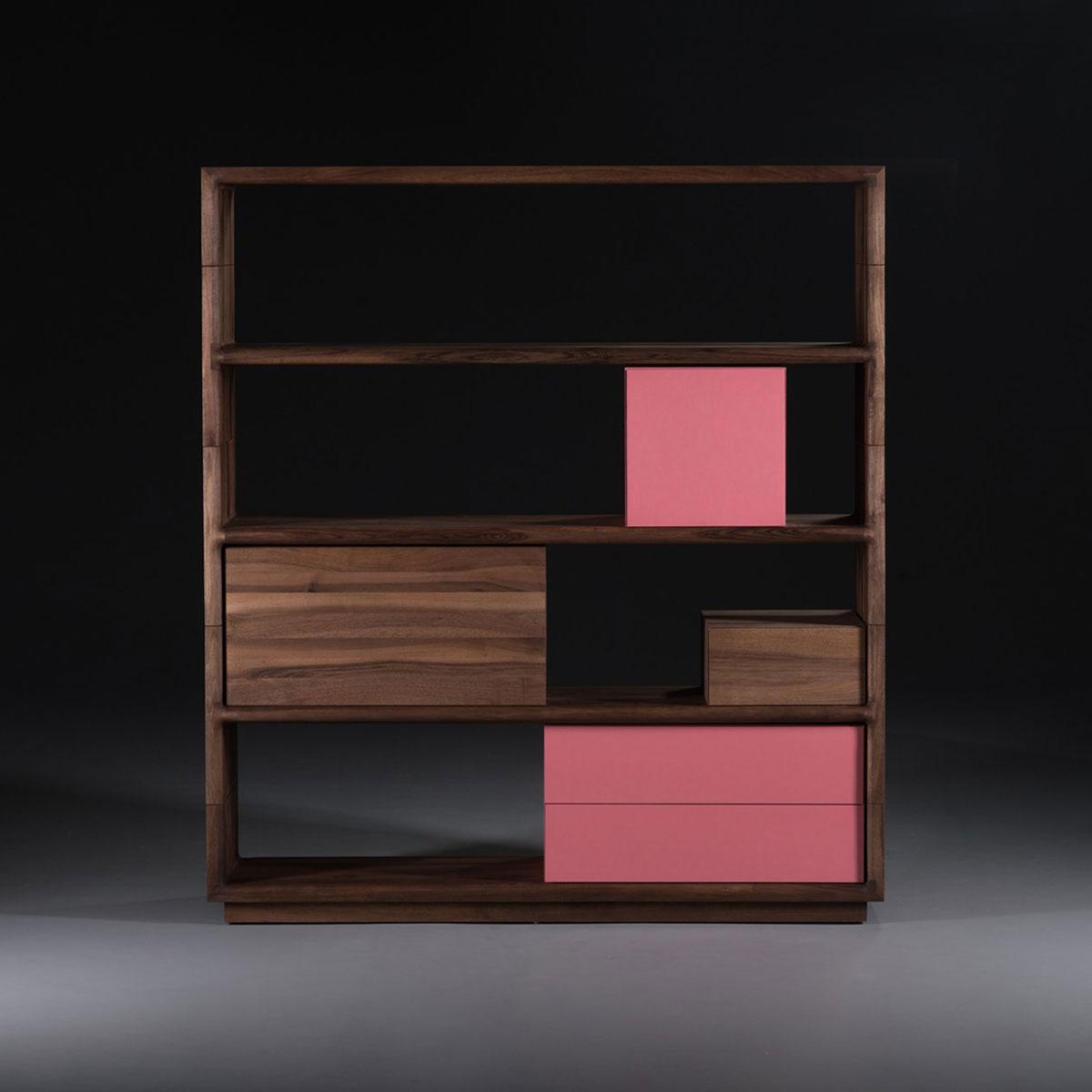 Mueble modular agilis en madera maciza moderno y actual for Diseno de muebles de madera modernos