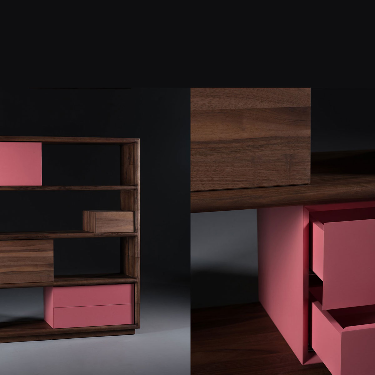 Mueble modular agilis en madera maciza moderno y actual for Mueble modular