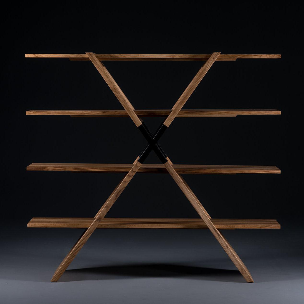 Mueble Modular X Shelf, diseño en madera, moderno y artesanal