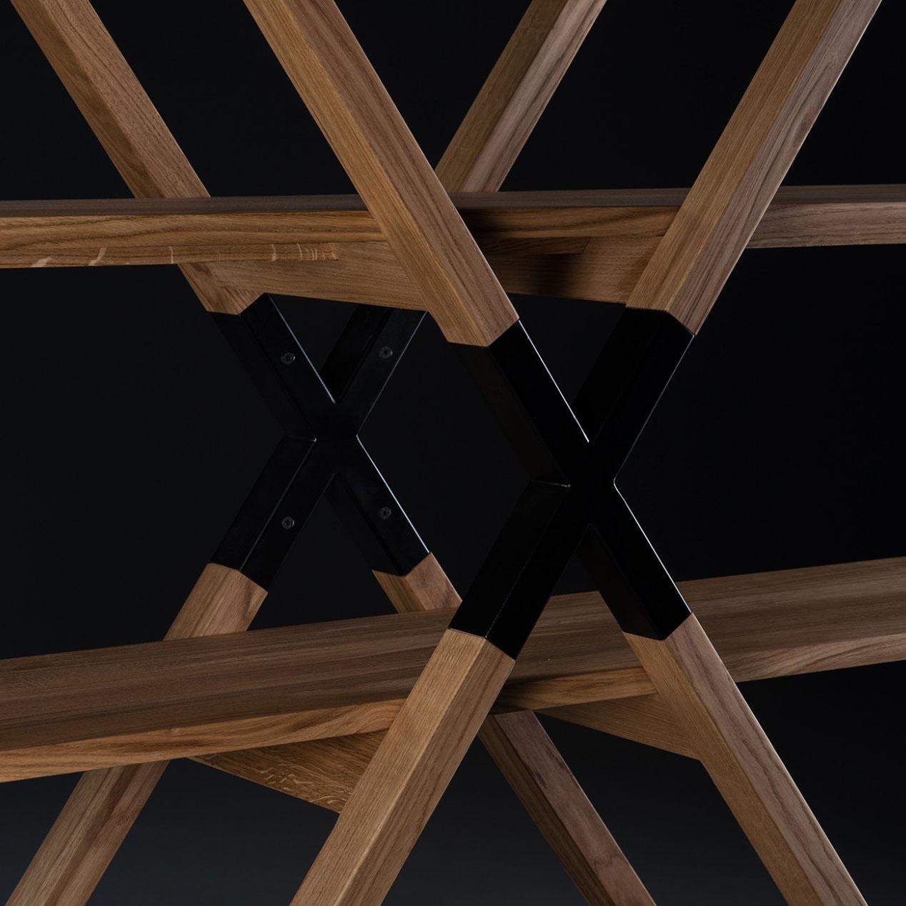 Mueble modular x shelf dise o original y artesano en madera for Mueble modular