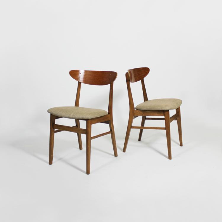 Conjunto de sillas estilo Borge Mogensen, hacia 1950