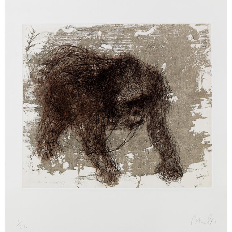 Miquel Barceló. Gorille à l´eau forte . Grabado