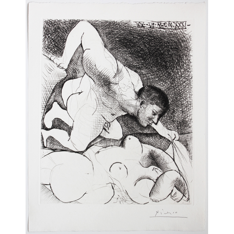 Pablo Picasso. Homme dévoilant une femme