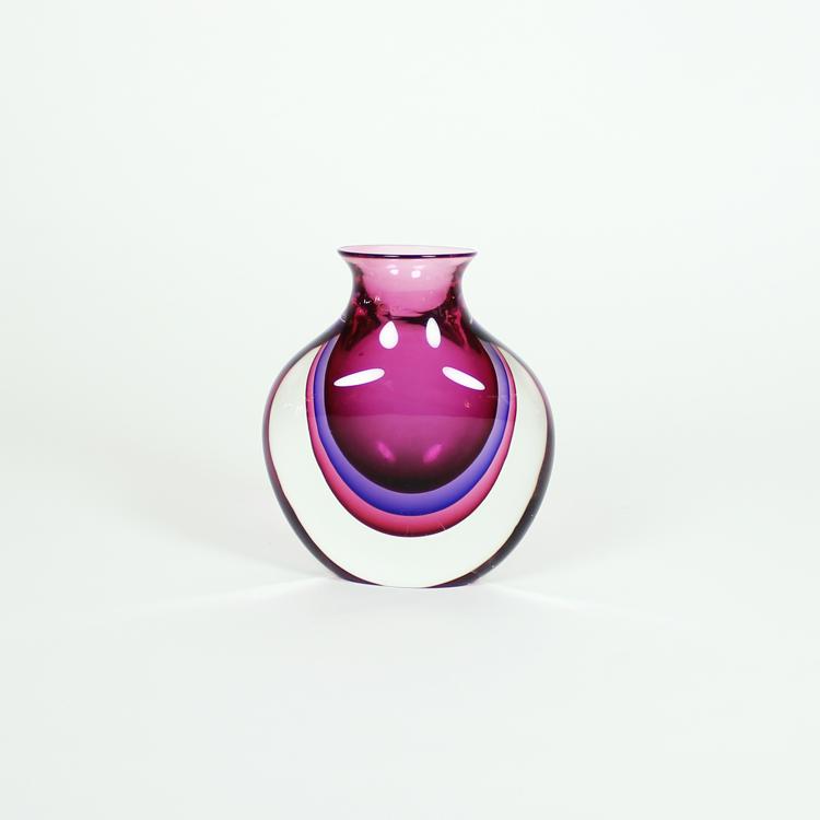 Jarrón de cristal de Murano, h. 1950