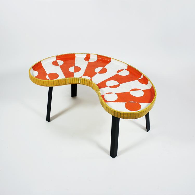 Mesa de cerámica de Manuel Sánchez Algora. Diseño de 2017