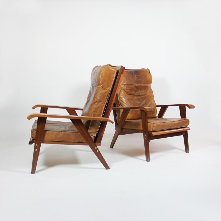 Pareja de sillones. Francia, hacia 1960