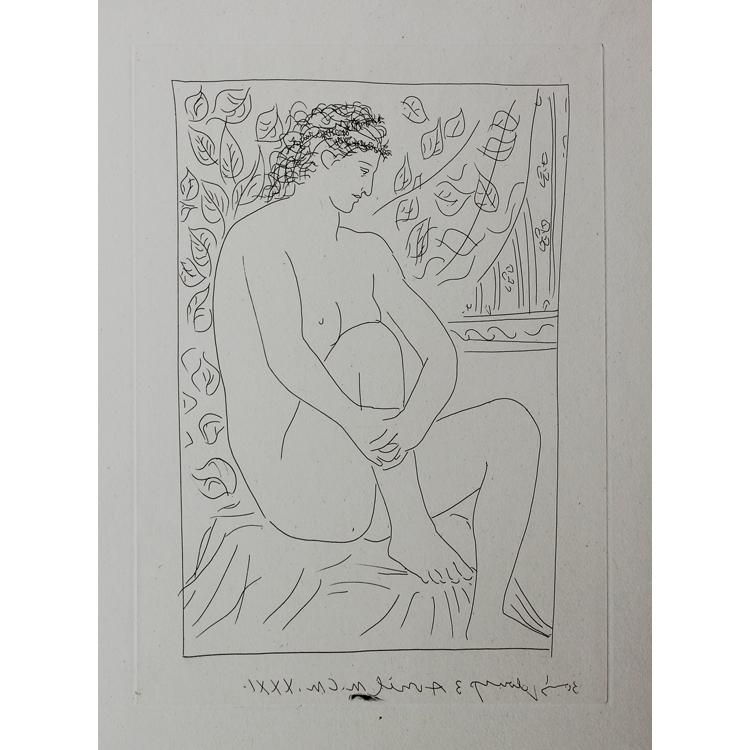 Grabado de la Suite Vollard. Pablo Picasso, 1931