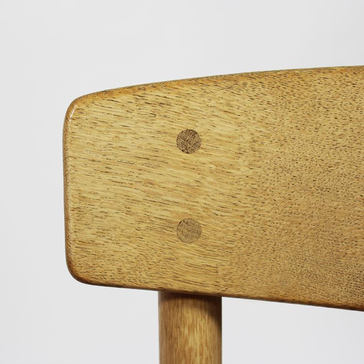 Conjunto de sillas de Borge Mogensen. Detalle del respaldo