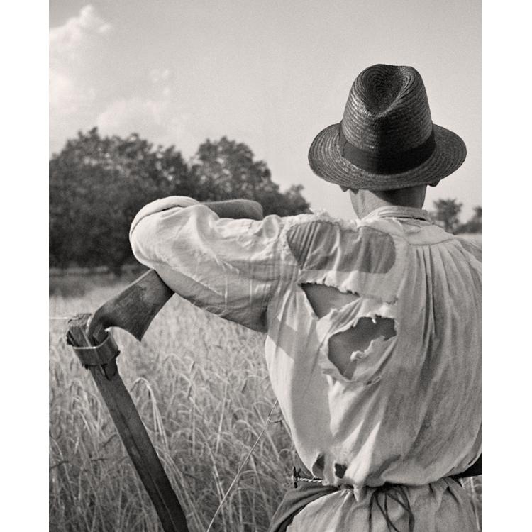Afilando la guadaña.Hungría 1935. Nicolás Muller