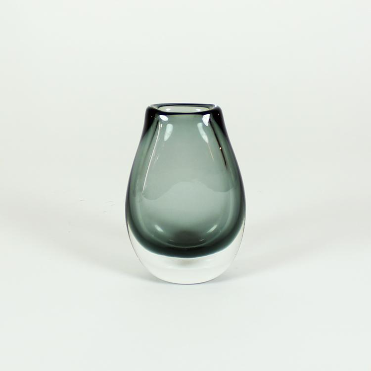 Jarrón de cristal escandinavo, años 50