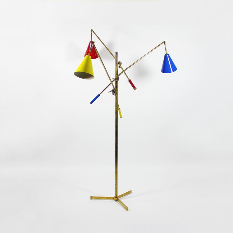 Lámpara de suelo. Italia, hacia 1950