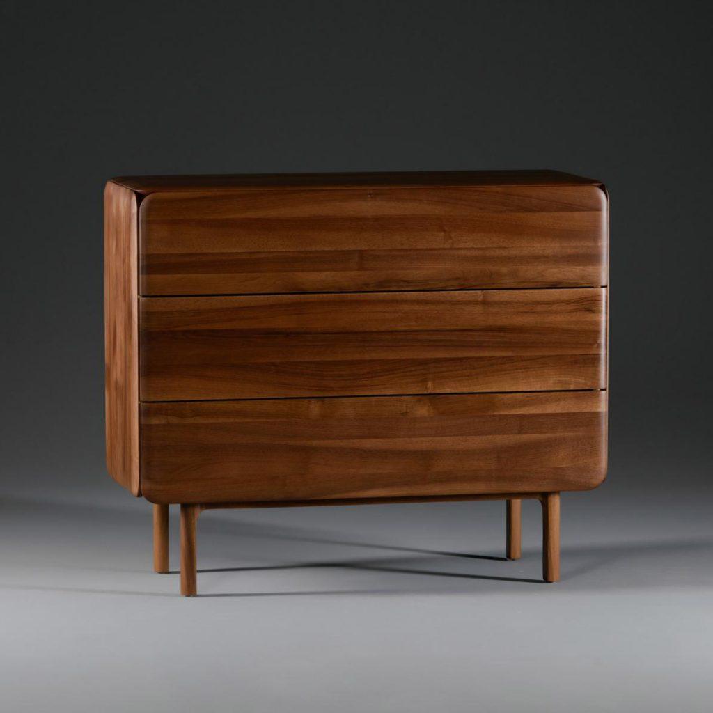 Aparador Cloud bajo 3 cajones para Artisan, moderno y original en madera de Michael Schneider