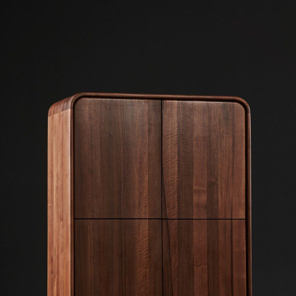 Archivador Eny, realizado en madera por Arteco, para Artisan en Europa