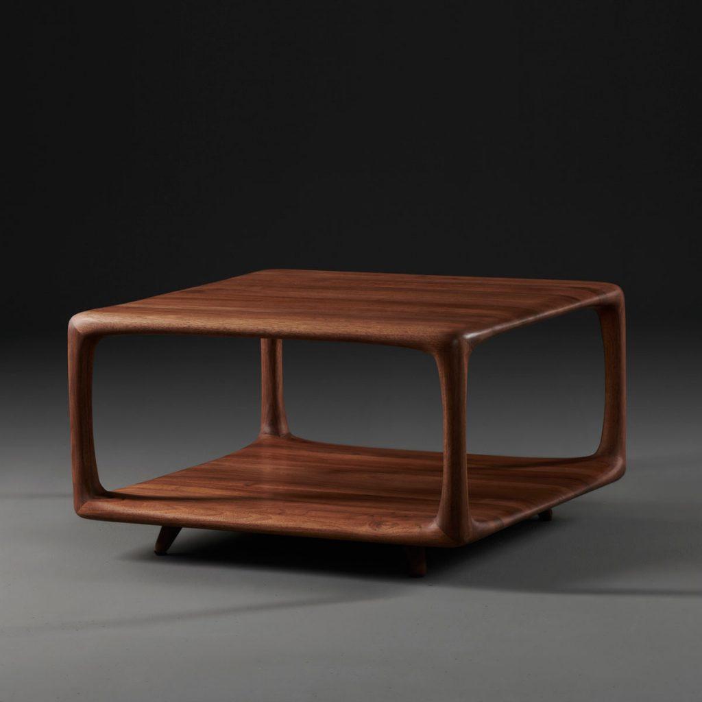 Mesa de centro Blend de Mirko Miličić para Artisan. Diseño moderno y actual en madera maciza
