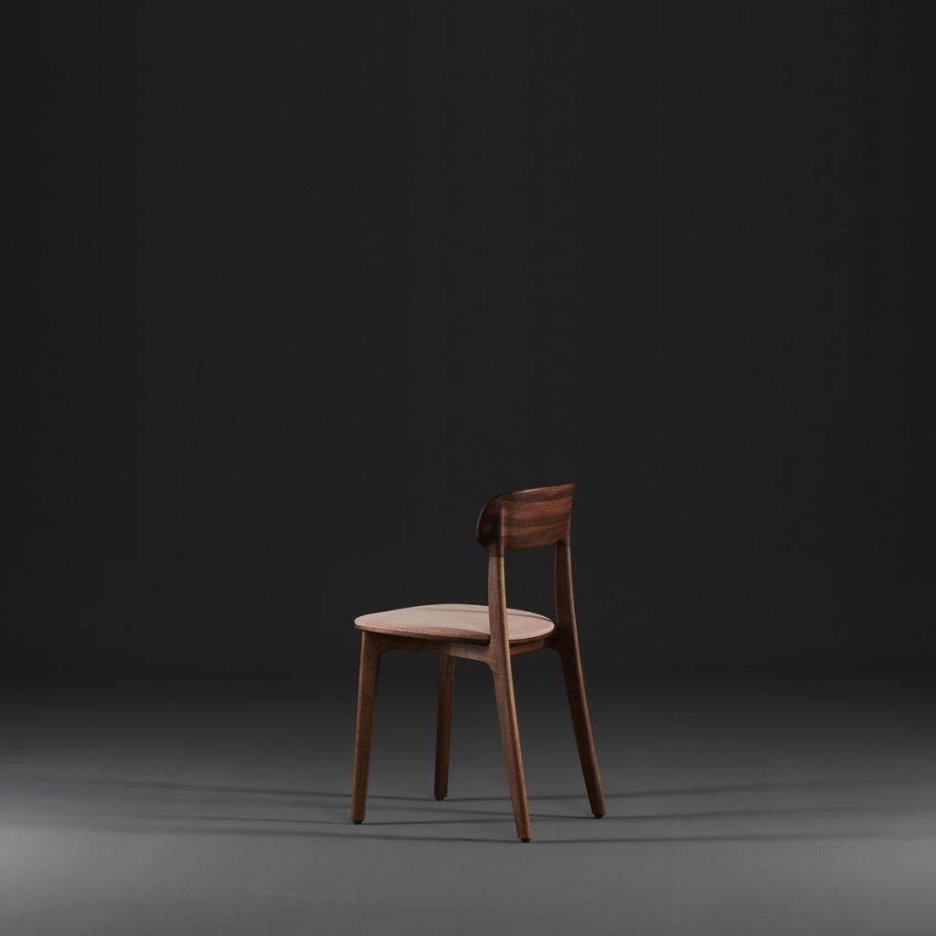 Silla Tanka para Artisan, en madera y tapicería a elegir con diseño de Regular Company