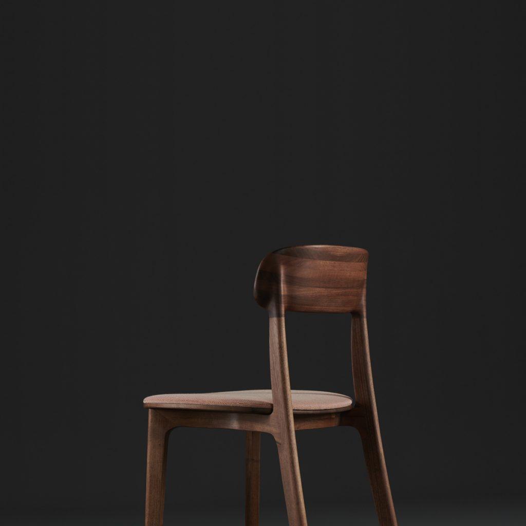 Silla Tanka, diseño en madera con tapicería a elegir para Artisan. Realizado de forma artesana por Regular Company