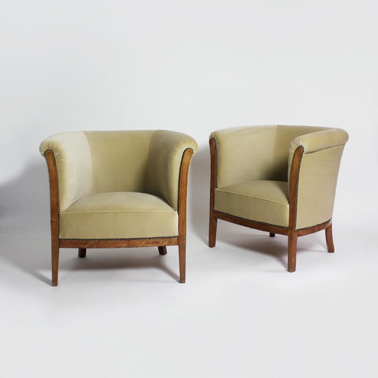Pareja de sillones Art Déco. Francia, años 40