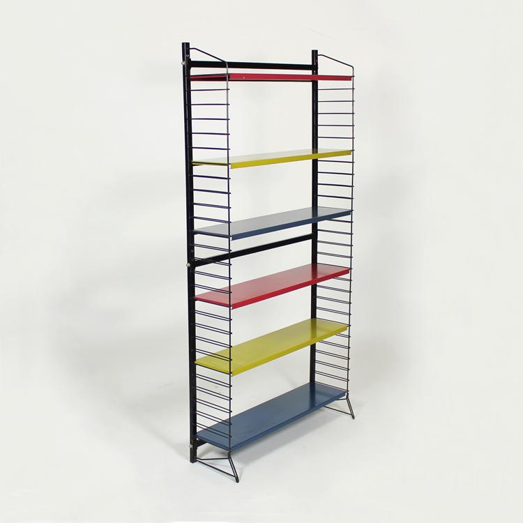 Librería metálica. Diseño francés años 60