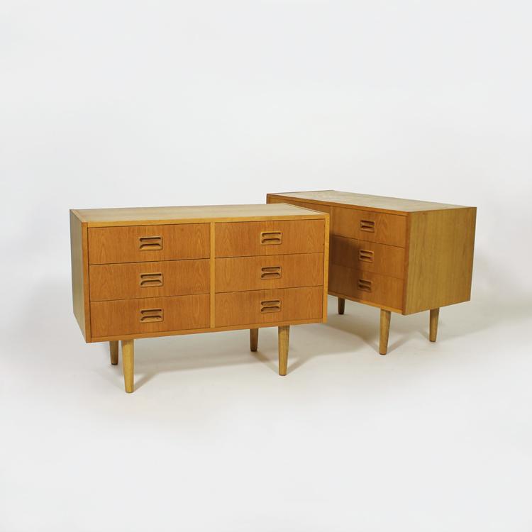 Pareja de cómodas suecas, años 50