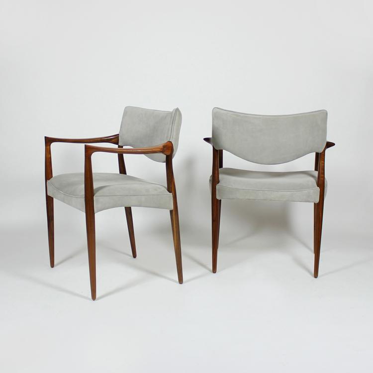 Pareja de sillas diseño danés, 50s